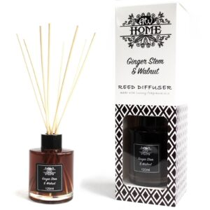 120ml Reed Diffuser Ginger Stem and Walnut Home Fragrance Reed Diffusers - 120ml
