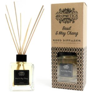 200ml Basil and Maychang Essential Oil Reed Diffuser Pure Essential Oils Reed Diffusers - 200ml