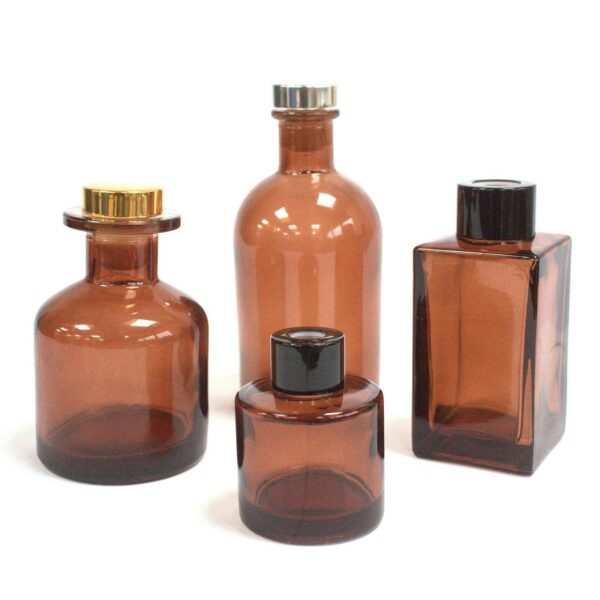 250 ml Round Antique Reed Diffuser Bottle Amber Aromatherapy