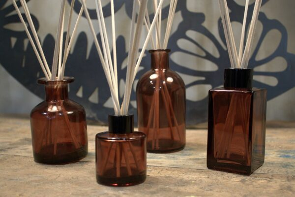 250 ml Round Antique Reed Diffuser Bottle Amber Diffusers