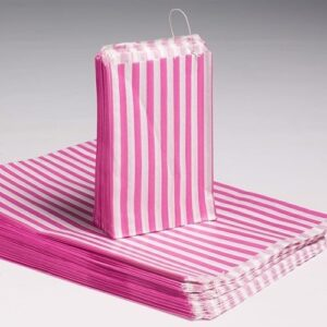 "5x7"" Candy Stripe Bags  1000  PINK Candy Stripe Bags"