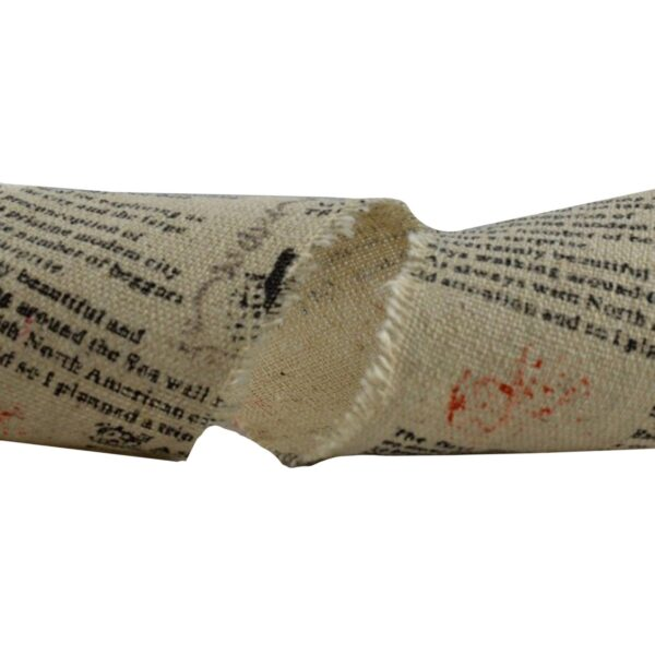 60mm Fringed Printed Burlap Design  10m Wrapping & Packing