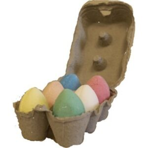 6x Bath Eggs in a Tray Mixed Tray Bath Eggs - 60g