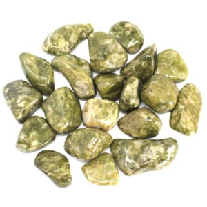 African Gemstone Epidote Snowflake African Tumbled Gemstones