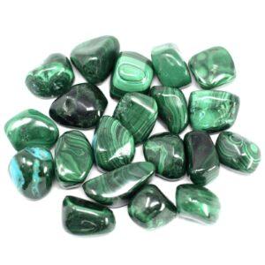 African Gemstone Malachite African Tumbled Gemstones