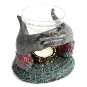 Antique Buddha Offering Hands Oil Burner Antique Buddha Collectables