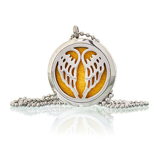 Aromatherapy Diffuser Necklace Angel Wings 30mm Aromatherapy Diffuser Necklaces