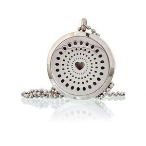 Aromatherapy Diffuser Necklace Diamonds Heart 30mm Aromatherapy Diffuser Necklaces