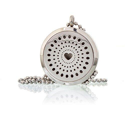 Aromatherapy Diffuser Necklace Diamonds Heart 30mm Aromatherapy Diffuser Necklaces