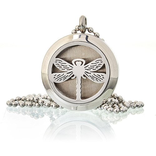 Aromatherapy Diffuser Necklace Dragonfly 25mm Diffusers