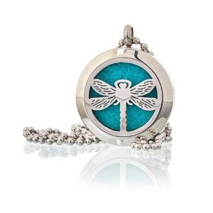 Aromatherapy Diffuser Necklace Dragonfly 25mm Aromatherapy Diffuser Necklaces