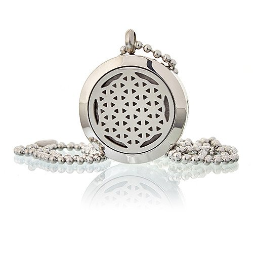 Aromatherapy Diffuser Necklace Flower of Life 25mm Diffusers
