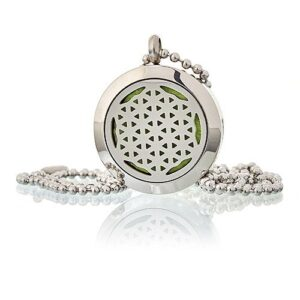 Aromatherapy Diffuser Necklace Flower of Life 25mm Aromatherapy Diffuser Necklaces