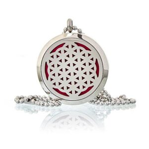 Aromatherapy Diffuser Necklace Flower  of Life 30mm Aromatherapy Diffuser Necklaces