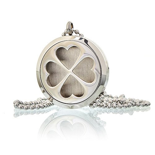 Aromatherapy Diffuser Necklace Four Leaf Clover 30mm Diffusers