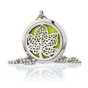 Aromatherapy Diffuser Necklace Leaf 30mm Aromatherapy Diffuser Necklaces
