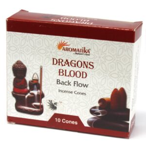 Aromatic Backflow Incense Cones Dragons Blood Aromatica Backflow Incense Cones