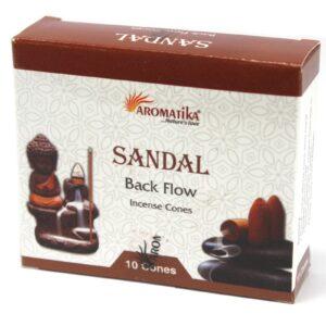 Aromatic Backflow Incense Cones Sandalwood Aromatica Backflow Incense Cones