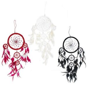 Bali Dreamcatchers Large Round Black White Red Bali Dream Catchers
