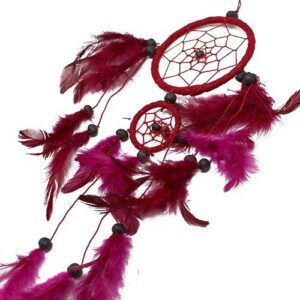 Bali Dreamcatchers Medium Round Black White Red Bali Dream Catchers