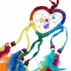 Bali Dreamcatchers Small Heart Rainbow Bali Dream Catchers