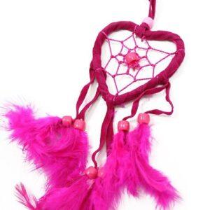 Bali Dreamcatchers Small Heart Turq Pink Purp Bali Dream Catchers