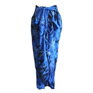 Bali Gecko Sarongs Blue Bali Cool - Gecko Scarves / Sarongs