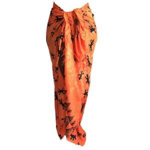 Bali Gecko Sarongs Orange Bali Cool - Gecko Scarves / Sarongs