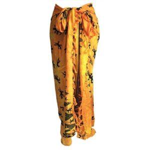 Bali Gecko Sarongs Yellow Bali Cool - Gecko Scarves / Sarongs
