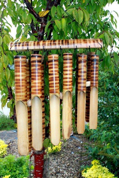 Bamboo Chimes 12 Big Tubes Bamboo Mountain Wind Chimes