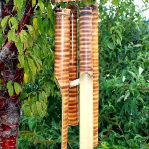 Bamboo Chimes 4 big Tubes Bamboo Mountain Wind Chimes