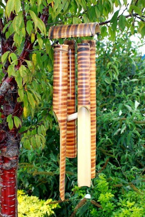 Bamboo Chimes 4 big Tubes Bamboo Mountain Wind Chimes