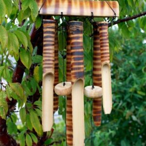 Bamboo Chimes 6 Med Tubes Bamboo Mountain Wind Chimes