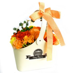 Basket Soap Flower Bouquet Orange Soap Flower Bouquets