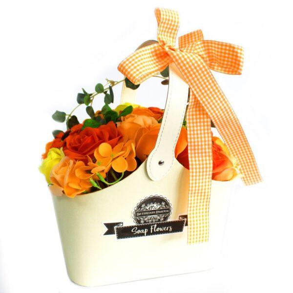 Basket Soap Flower Bouquet Orange Soap Flower Bouquets