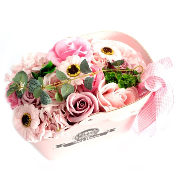Basket Soap Flower Bouquet Pink Bathtime