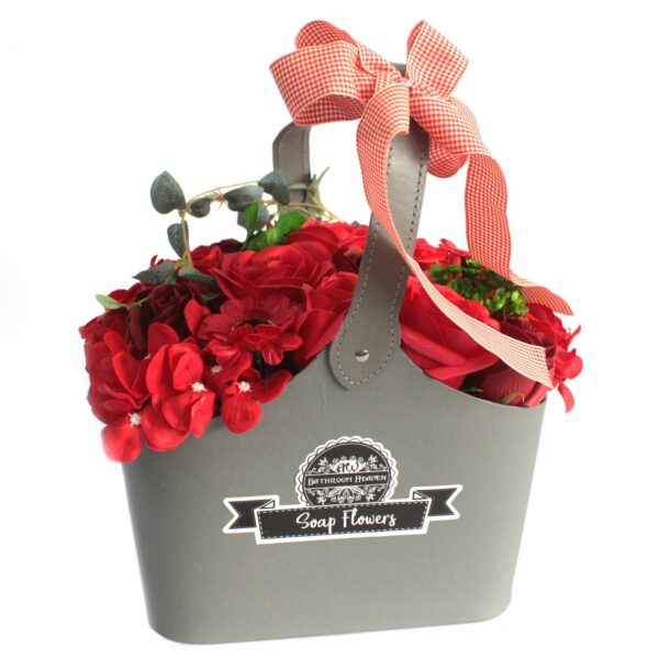 Basket Soap Flower Bouquet Red Soap Flower Bouquets
