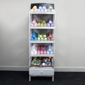 Bath Bomb 5 Shelf Display Whitewash Retail Display Stands
