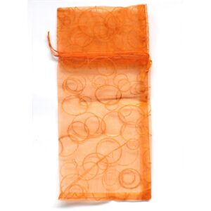 Bath bomb Bubble Bags  for 2  Orange Bubble Organza Bags for Bathbombs