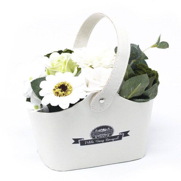 Bouquet Petite Basket Pastel Green Petite Soap Flower Bouquets