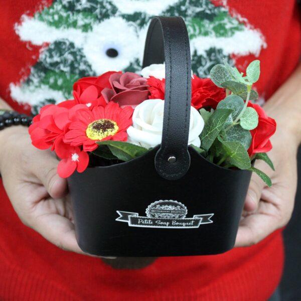 Bouquet Petite Basket Peaceful Pink Luxury Soap Flowers