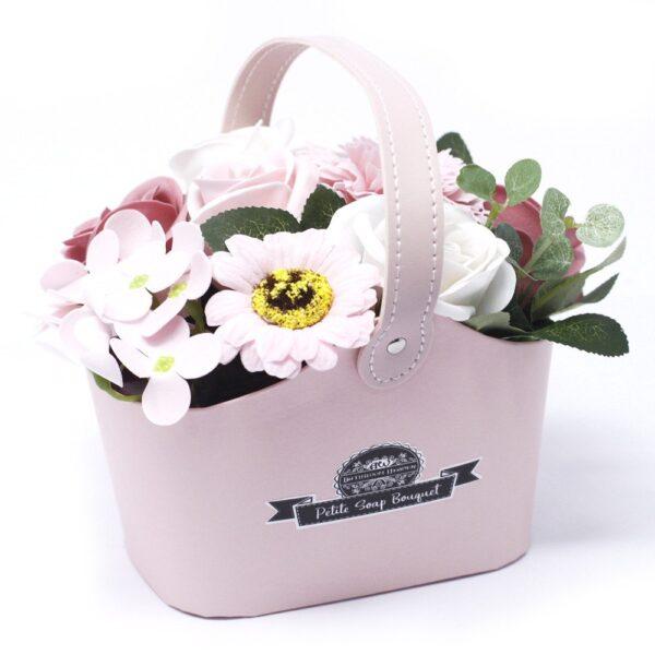 Bouquet Petite Basket Peaceful Pink Petite Soap Flower Bouquets