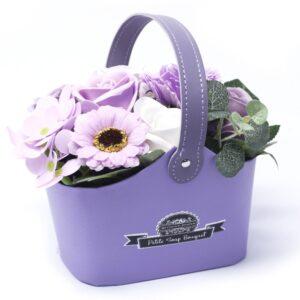 Bouquet Petite Basket Soft Lavender Petite Soap Flower Bouquets