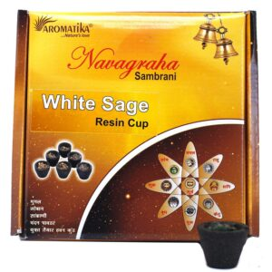 Box of 12 Resin Cups White Sage Resin Cups
