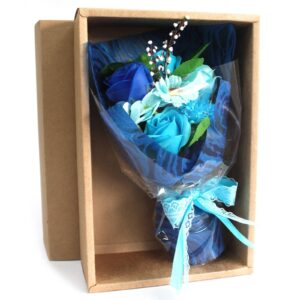 Boxed Hand Soap Flower Bouquet Blue Soap Flower Bouquets