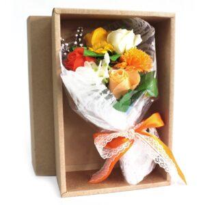 Boxed Hand Soap Flower Bouquet Orange Soap Flower Bouquets