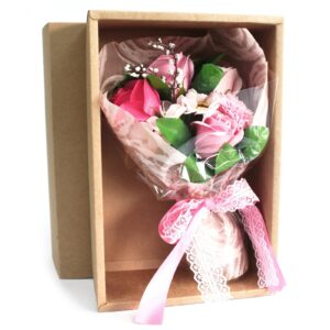 Boxed Hand Soap Flower Bouquet Pink Soap Flower Bouquets