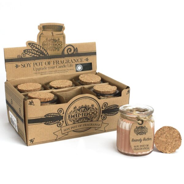 Brandy Butter Soy Pot of Fragrance Candles Home Décor