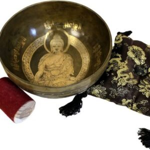 Brass Golden Buddha Special S'Bowl Set Tibetan Singing Bowls