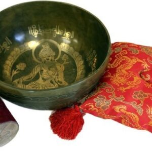 Brass Golden Tara Special S'Bowl Set Tibetan Singing Bowls